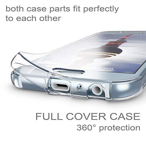 NALIA Funda 360 Grados Compatible con Samsung Galaxy A5 2017, Delantera Trasera Protectora Movil Silicona Carcasa, Ultra-Fina Transparente Doble Cubierta Goma Bumper Cover Case, Color:Transparente
