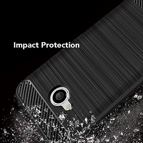 NALIA Funda Carbono Compatible con HTC U11 Life, Protectora Movil Carcasa Cobertura Silicona Ultra-Fina Gel Bumper Estuche, Ligera Goma Telefono Cubierta Delgado Cover Smart-Phone Case - Negro