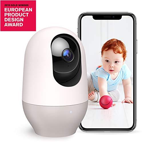 Nooie Vigilabebés, cámara de vigilancia IP inalámbrica WiFi Interior 1080P con micrófono y Altavoz, visión Nocturna, detección de Movimiento, Seguridad para Mascotas, Funciona con Alexa