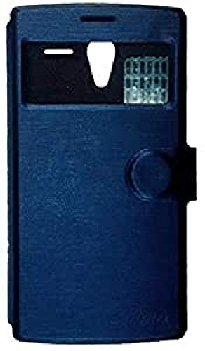 Primux PTCOVALP4BP - Funda Flip con Ventana para Primux Alpha 4/Zeta 2, Azul