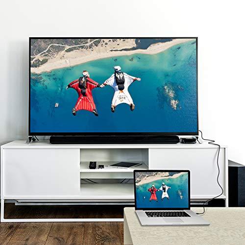 Rankie Cable Mini HDMI a HDMI, vídeo 4K, Compatible con Ethernet, 3D y ARC, 1,8 m, Negro