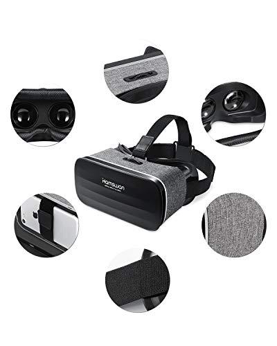 REDSTORM 3D VR Gafas de Realidad Virtual, VR Glasses Visión Panorámico 360 Grado Película 3D Juego Immersivo para Móviles 4.0-6.0 Pulgada (Gris)