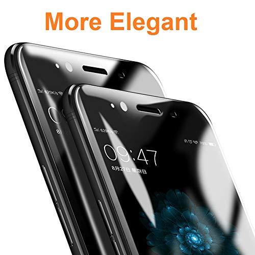 REY 2X Protector de Pantalla 3D para Samsung Galaxy A5 2017, Transparente, Protección Completa, 3D / 4D / 5D