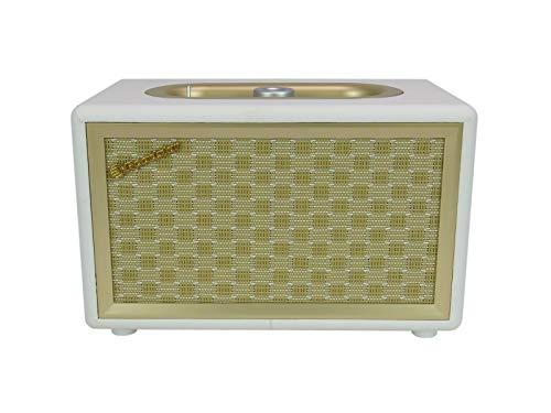 ROADSTAR HRA-310BT – Radio Vintage con Altavoz Bluetooth y Aux-in, Color Crema