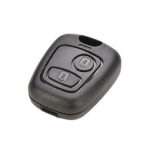 RUNGAO - Carcasa para llave de coche compatible con Peugeot 107 207 307 407 106 206 306 406
