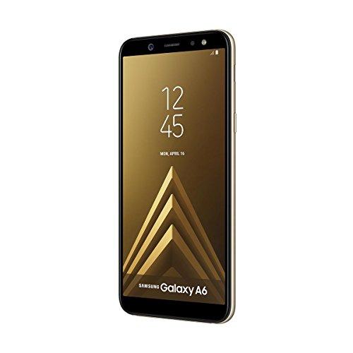 """Samsung Galaxy A6 - Smartphone libre Android 8,0 (5,6 HD+), Dual SIM, Cámara Trasera 16MP + Flash y Frontal 16MP + Flash, Oro, 32 GB 5.6"""" - Versión española"""