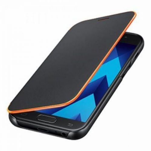 Samsung Neon Flip Cover - Funda para Galaxy A3 2017, color negro