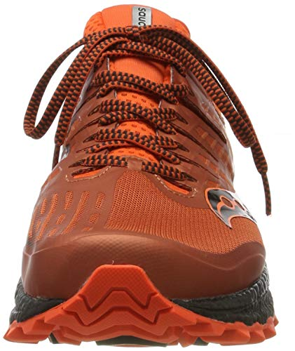 Saucony Xodus ISO 3, Zapatillas de Running para Hombre, Naranja (Orange/Black 36), 42 EU