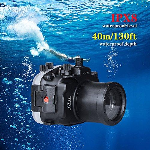 Sea frogs para Sony A7II 130ft/40m Carcasa Impermeable de Cámara Deportiva Protectora Resistente al Agua hasta