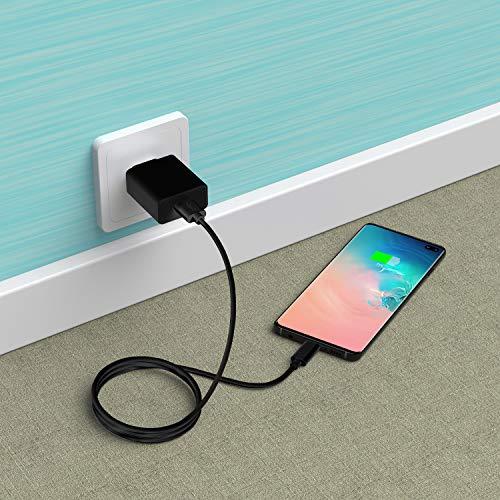 Slabo Cable de Carga USB Tipo C para Nokia 5.3 | 6 (2018) | 6.2 | 7 Plus | 7.1 | 7.2 | 8 Sirocco | 8.1 | 8.3 | 9 PureView Cable de sincronización del conexión Datos - Negro