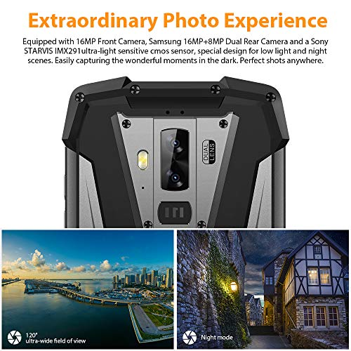 Smartphone Impermeable, Blackview BV9700 Pro IP68 & IP69K Móvil Resistente, Android 9.0 Helio P70 Dual SIM 4G Moviles Libres, 6GB+128GB SD 256GB, 16MP+8MP+16MP, NFC/Pulsómetro/Face ID
