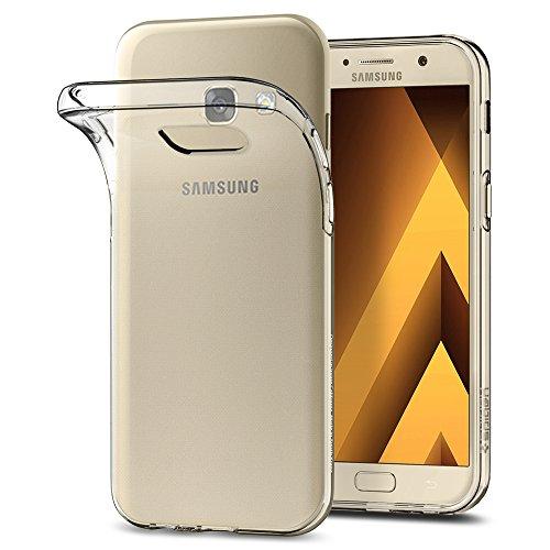 Spigen, Funda Compatible con Samsung Galaxy A5 2017 [Liquid Crystal] Protección Delgada de Gel Silicona y claridad Premium de TPU [Compatible con Carga Inalámbrica] - [Trasparente]