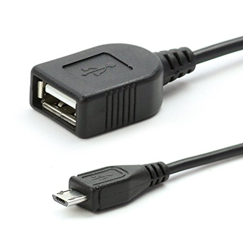 subtel Cable USB OTG Compatible con Sony Xperia Tablet Z / Z2 / Z3 / Z4 / Tablet S - Adaptador OTG (Cable Conector Micro USB, 15cm)