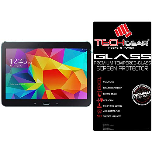 """TECHGEAR Vidrio Compatible con Galaxy Tab 4 10.1"""" (SM-T530) - Auténtica Protector de Pantalla Vidro Templado para il Samsung Galaxy Tab 4 10.1 Pulgada"""