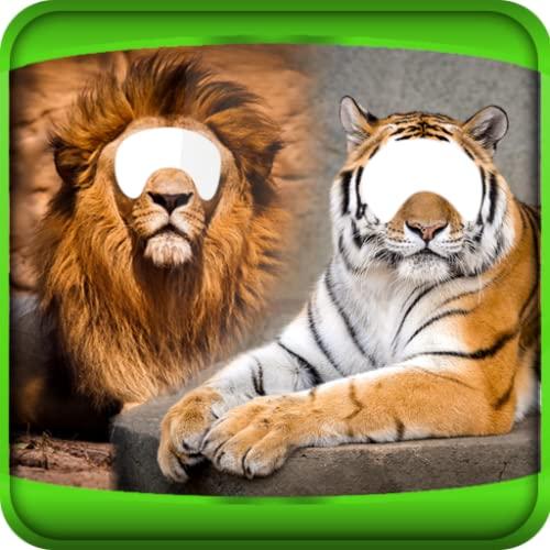 Tigre y del león montaje de la foto