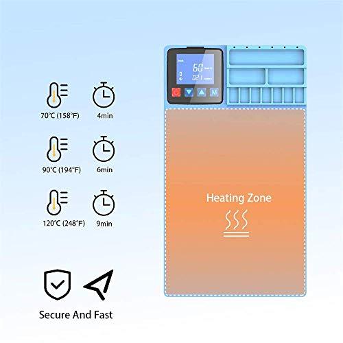 TOPQSC - Máquina separadora de Pantalla LCD CPB cojín Calentador de Calor LCD Pantalla de Cristal Separador máquina precalentadora Placa Herramienta de reparación para iPad iPhone