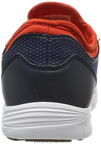Umbro Velo Run, Zapatillas de Running para Hombre, Azul (Dark Navy/White/Shocking Orange FSU), 43 EU