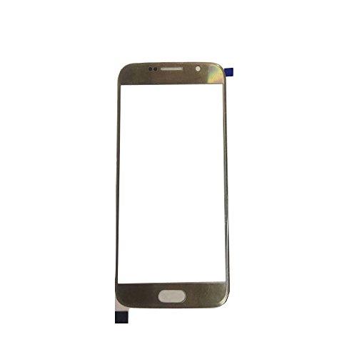 UU FIX Pantalla Cristal Frontal para Original Samsung Galaxy S6 G9200(Oro) LCD Touch Screen Frontal Cristal Replacment con Juego de la Herramientas.
