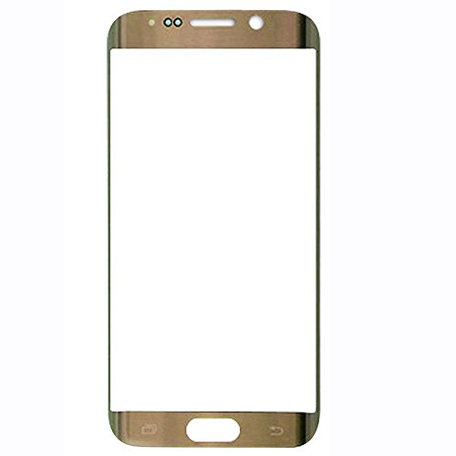 UU FIX Pantalla Cristal Frontal para para Samsung Galaxy S6 Edge (Oro) LCD Touch Screen Frontal Cristal Replacment con Juego de la Herramientas.