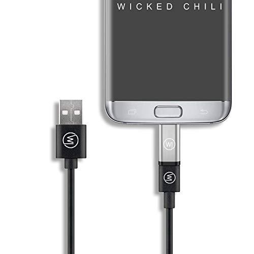 Wicked Chili - Adaptador micro USB a USB C OTG (compatible con Insta360 ONE, DJI OSMO Pocket y Huawei EnVizion 360, micro USB a USB C para smartphones y tablets con puerto micro USB)