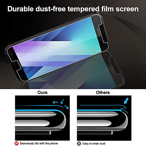 Wiestoung Cristal Templado para Samsung Galaxy A5 2017, Protector de Pantalla Vidrio Templado, 9H Dureza Resistentes a los Golpes, Huellas Dactilares Libre, Antiarañazos, Anti-Aceite-3 Pack