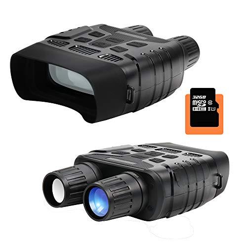 """Wimaha HD Digital Binoculares de visión Nocturna Alcance de Caza infrarrojo Digital HD, Imagen 1080Py Video 720Py cámara IR de Pantalla LCD de 2.31""""en 400m para Vida Salvaje con tarjeta de memoria 32G"""