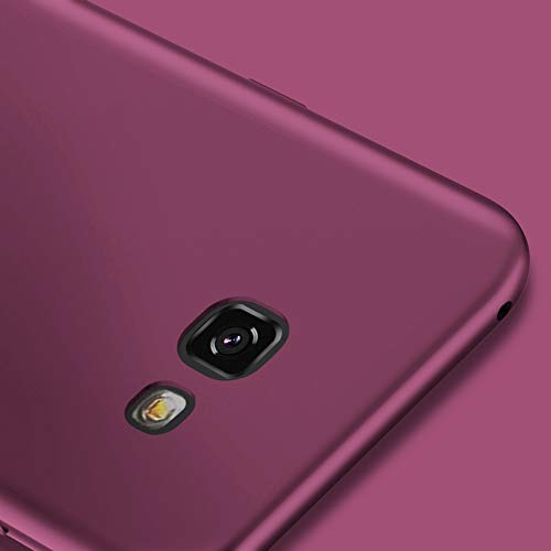 X-level Funda para Samsung Galaxy A5 2017, Carcasa para Samsung Galaxy A5 2017 Suave TPU Gel Silicona Ultra Fina Anti-Arañazos y Protección a Bordes Funda Phone Case para Galaxy A5 2017 - Vino Rojo