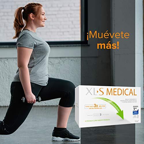 XL-S Medical Captagrasas para Perder Peso, Capta 28% de la Grasa Ingerida (1), Comprimidos para Adelgazar, 1 Mes de Tratamiento, 180 comprimidos