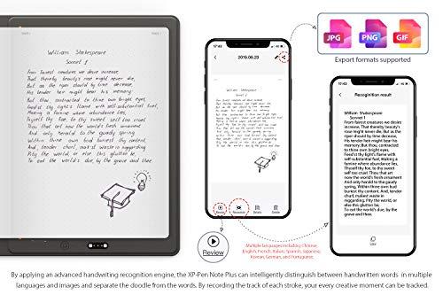 XP-PEN Note Plus Smart Writing Pad Cuaderno Digital Cuaderno Inteligente