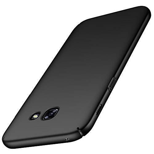 XTCASE Funda para Samsung Galaxy A3 2017, Ultra-Delgado Carcasa Duro (PC) Ultrafina Slim Ligera Mate Case Anti-rasguños Anti Choque Resistente Huellas Dactilares - Negro