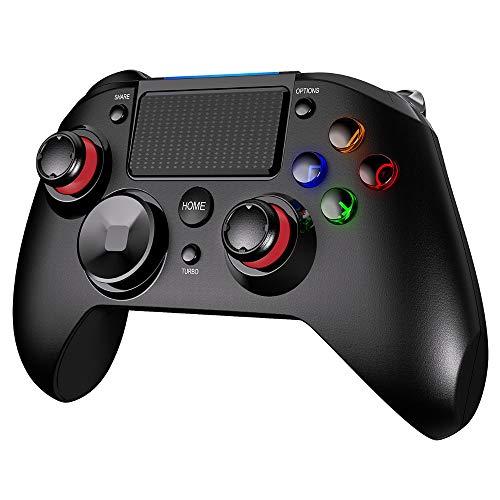 ZXLIFE@@ con conexión de Cable Gamepad Controlador USB para Playstation 4 con Auriculares Jack PC Controlador de Juegos