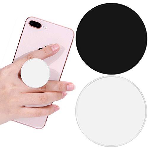 AESTBU 2 Piezas de Agarres/Soportes Expansibles para Teléfonos Móviles y Tabletas - Blanco Negro