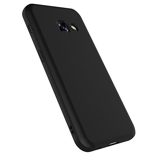 AICEK Funda Compatible with Samsung Galaxy A3 2017, Negro Silicona Fundas para Galaxy A3 2017 Carcasa for A320 (4,7 Pulgadas) Negro Silicona Funda Case