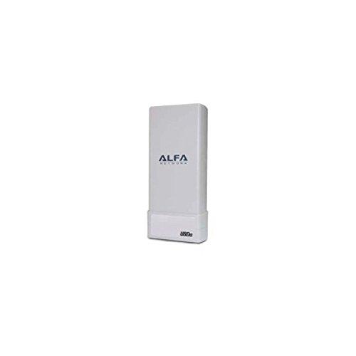 Alfa Network UBDO-NT - Adaptador WiFi USB 802.11b / g/n, Largo Alcance, Radio, con 12 dBi Antena integrada, Cable de 5 m