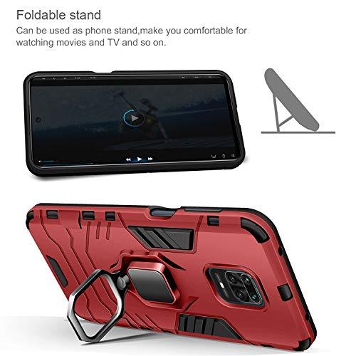 AROYI Carcasa Xiaomi Redmi Note 9S/9 Pro/9 Pro MAX Funda Silicona & Protector Pantalla Cristal Templado, Suave Armadura híbrida Robusta Caja para Funda Xiaomi Redmi Note 9S/9 Pro/9 Pro MAX - Negro