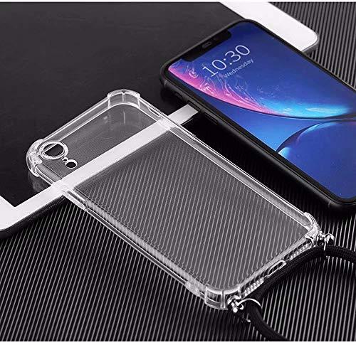 Bigcousin Funda con Cuerda Compatible con Samsung Galaxy A5 2017/A520,Ultrafina Suave Transparente TPU con Ajustable Collar Cadena Cordón,Menta Verde