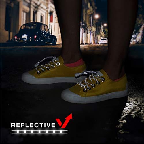 BODYPRIDE Premium Lazy Laces [ 12 Colores ] Cordones Elásticos para Zapatos que se cierren rapidamente - Sin Atar   Reflectante   Niños, Mayores   Garantía (Neon Orange)