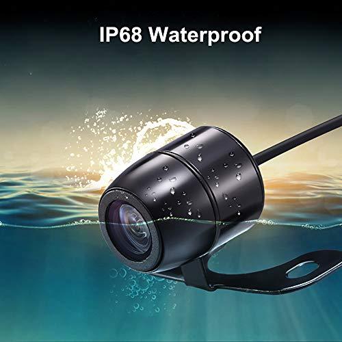 Cámara de Marcha Atrás y Kit de Monitorización, Cámara de Visión Trasera IP68 Resistente al Agua visión Nocturna Sistema de Asistencia de estacionamiento 4.3 Pulgadas fácil de Instalar