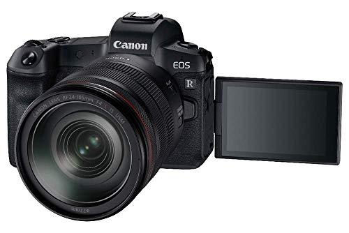 Canon EOS R - Cámara compacta de 30.3 MP (Wi-Fi, Bluetooth, Sensor Dual Pixel CMOS AF, ISO, 4K) Negro - Kit con F24-105mm f/4 L IS USM y Mount Adapter EF-EOS R