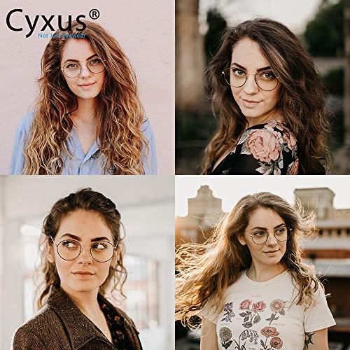 Cyxus Gafas Anti Luz Azul de Marco de metal Anti Tensión de Ojos [Mejor Sueño] (Lentes Transparentes) Unisexo (Hombres/Mujeres) (Negro)