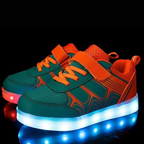 DoGeek Zapatos LED Niños Niñas Negras Blanco 7 Color USB Carga LED Zapatillas Luces Luminosos Zapatillas LED Deportivos para Hombres Mujeres (Elegir 81 Tamaño Más Grande)