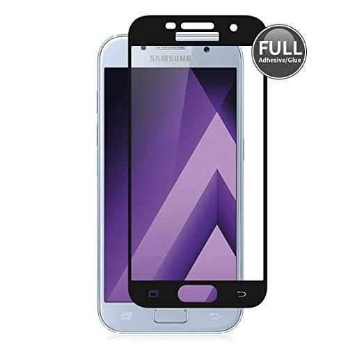 E-Hamii Actualizado 3D Película Protectora para Samsung Galaxy A5 2017 (Negro) Pantalla Completa Cobertura Protector, Resistente a Huellas Dactilares y Antiexplosión, 9H Antiarañazos