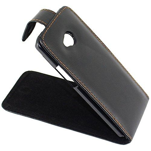 ebestStar - Funda Compatible con HTC One M7 Carcasa Abatible PU Cuero, Ultra Slim Case Cover, Negro [Aparato: 137.4 x 68.8 x 9.33mm, 4.7'']