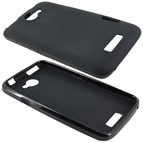 ebestStar - Funda Compatible con HTC One X Carcasa Transparente Silicona Gel Estuche Flexible, Negro [Aparato: 134.4 x 69.9 x 8.9mm, 4.7'']