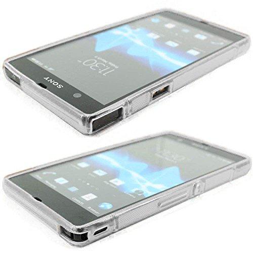 ebestStar - Funda Compatible con Sony Xperia Z C6602, L36H Carcasa Gel Silicona Gel TPU Motivo S-línea, S-Line Case Cover, Transparente [Aparato: 139 x 71 x 7.9mm, 5.0'']