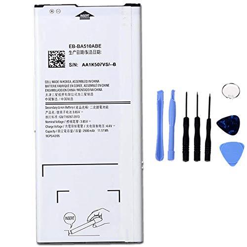 Ellenne Batería Compatible con Samsung A5 2016 A510 EB-BA510ABE de Alta Capacidad 2900MAH con Kit de desmontaje Incluido