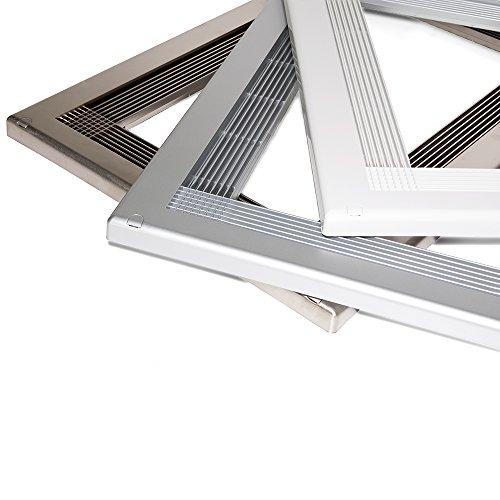 Emuca 8934725 Marco para encastrar microondas en mueble, en plastico, Gris metalizado
