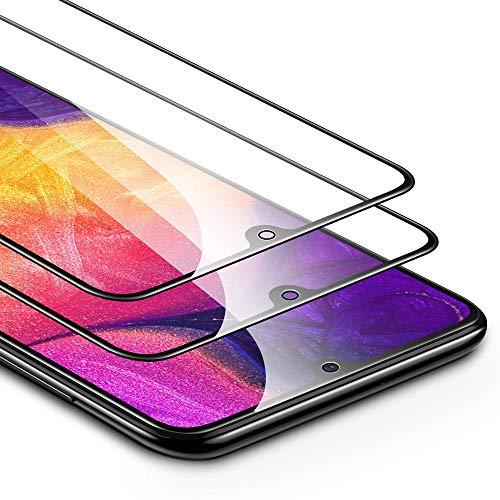 ESR Protector de Pantalla para Samsung Galaxy A50/A50s [2 Unidades] 2.5D Cristal Templado Screen Protector [Cobertura Pantalla Completa] Compatible con Samsung A50 /A50s (2019)