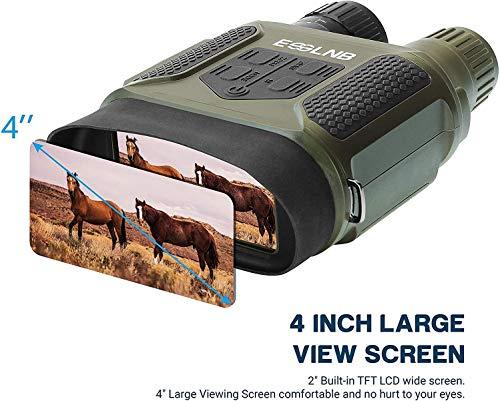 """ESSLNB Prismáticos Visión Nocturna 7x31 Binoculares Vision Nocturna con 2"""" TFT LCD Pantalla y 8GB TF Tarjeta Foto Cámara Vídeo Grabadora Función de Reproducción"""