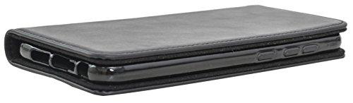 Funda Smartphone Gusti Cuero Estuche para HTC One A9 de Cuero Negro HTCOneA9-1-47-3